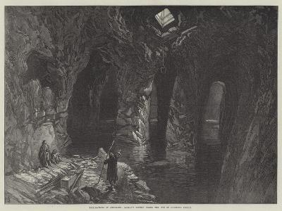 Explorations of Jerusalem, Rock-Cut Cistern under the Site of Solomon's Temple
