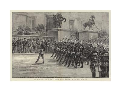 The Prince of Wales in Berlin, Parade before the Prince at the Imperial Palace