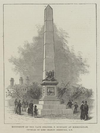 Monument of the Late Colonel F Burnaby at Birmingham, Unveiled by Lord Charles Beresford, Rn