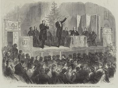 Entertainment at the Hanover-Square Rooms to the Inmates of the Deaf and Dumb Institution