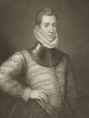 Portrait of Sir Philip Sidney (1554-1586) from 'Lodge's British Portraits', 1823