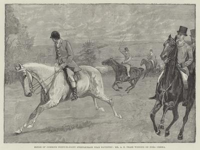 House of Commons Point-To-Point Steeplechase Near Daventry, Mr a E Pease Winning on Nora Creina