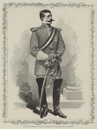 His Royal Highness Prince Henry of Battenberg in the Uniform Worn at His Wedding
