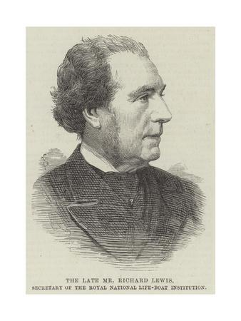 The Late Mr Richard Lewis, Secretary of the Royal National Life-Boat Institution