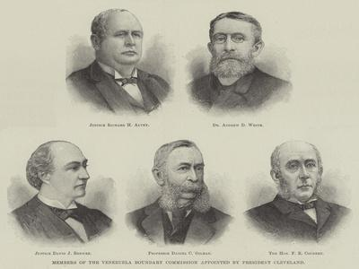 Members of the Venezuela Boundary Commission Appointed by President Cleveland