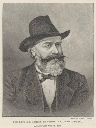 The Late Mr Carter Harrison, Mayor of Chicago, Assassinated 28 October 1893