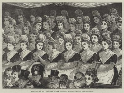 Thanksgiving Day, Children of the Foundling Hospital Viewing the Procession
