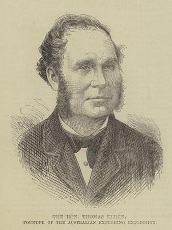 The Honourable Thomas Elder, Founder of the Australian Exploring Expedition