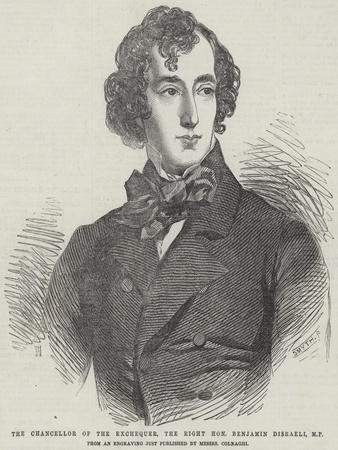 The Chancellor of the Exchequer, the Right Honourable Benjamin Disraeli, Mp