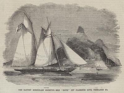 The Baptist Missionary Society's Ship Dove Off Clarence Cove, Fernando Po