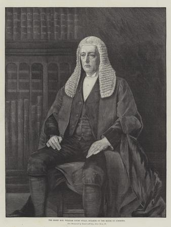 The Right Honourable William Court Gully, Speaker of the House of Commons