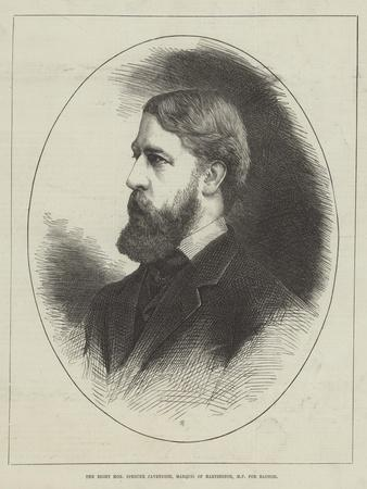 The Right Honourable Spencer Cavendish, Marquis of Hartington, Mp for Radnor