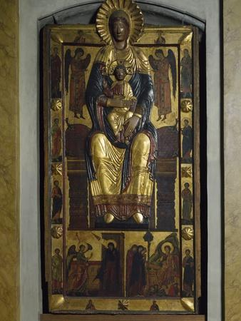 Madonna on Throne, Church of Santa Maria Maggiore, Florence, Italy, 13th Century