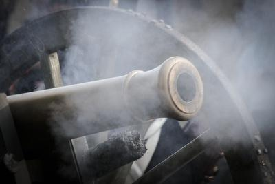 Historical Reenactment: Cannon of the Austrian Imperial Army, Napoleonic Wars, 19th Century