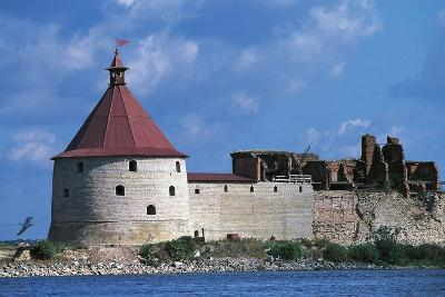 Slisselburg Fortress, also known as Petrokrepost or Oresek Fortress in Lake Ladoga, Russia