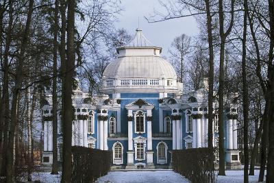 Hermitage Pavilion in Snow, 1744, Catherine Palace, Tsarskoye Selo, Pushkin, Russia