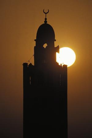 Minaret at Dusk, M'Zab Valley (Unesco World Heritage List, 1982), Ghardaia, Algeria