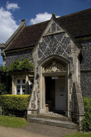 Entrance to Saint Michael's Lodge, 19th Century Cottage, St Albans, Hertfordshire, United Kingdom