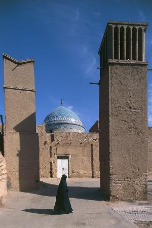 Tomb of the Twelve Imams or Maghbareh-Ye Davazdah Emam, Funerary Mosque, 12th Century, Yazd, Iran