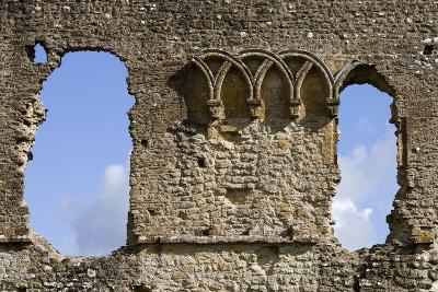 Ruins of the Old Castle (Built Between 1107-1135), Sherborne, Dorset, United Kingdom, Detail
