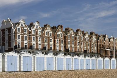 Beach Huts and Seafront Buildings in Bexhill-On-Sea, English Channel, Sussex, United Kingdom