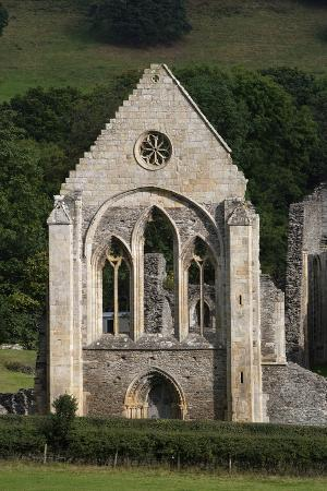 Ruins of Valle Crucis Cistercian Abbey, Founded in 1201, Llangollen, Wales, United Kingdom