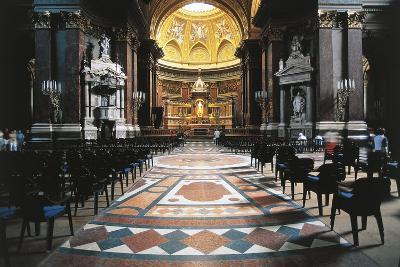 Nave and High Altar of St Stephen's Basilica, 19th-20th Century, Pest, Budapest, Hungary