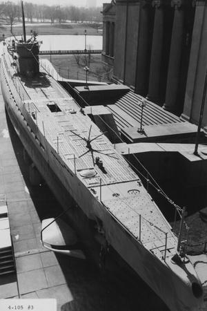 The Captured German Submarine U505 on Display Outside the Museum of Science and Industry