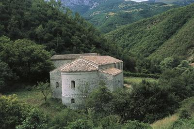 Abbey of St Mary of Sitria, 1014-1021, Fossara Island, Natural Park of Monte Cucco, Umbria, Italy