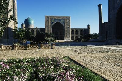 Tilla Kari Madrasa, 17th Century, Samarkand (Unesco World Heritage List, 2001), Uzbekistan