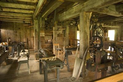 Carpenter's Workshop, Hancock Shaker Village Museum Near Pittsfield, Massachusetts, Usa
