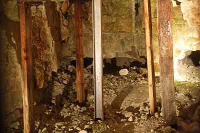 Underground Pits in Grime's Graves, Neolithic Mining Complex, Norfolk, United Kingdom