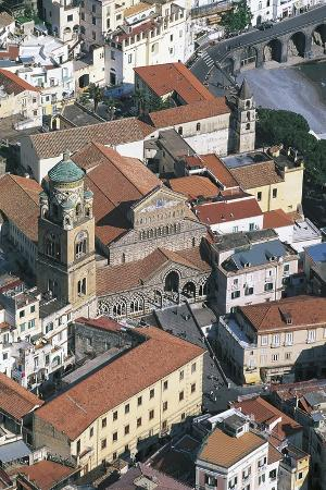 Amalfi, Seen from Pogerola, Amalfi Coast (Unesco World Heritage List, 1997), Campania, Italy