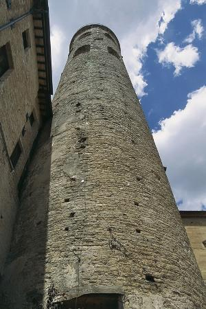 Cylindrical Bell Tower (11th-12th Century) of Cathedral, Citta' Di Castello, Umbria, Italy