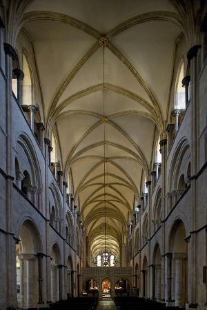 Vault of Central Nave of Chichester Cathedral (681-1108), West Sussex, United Kingdom