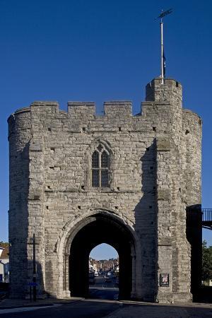 Westgate, Last Remaining of Canterbury's Seven Medieval Gates, Kent, United Kingdom
