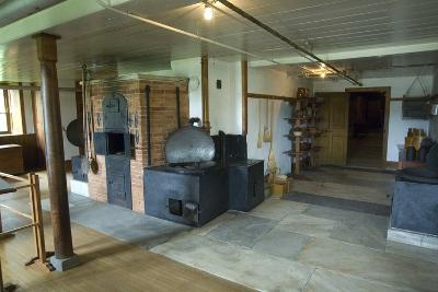 Interior of Kitchen with Oven, Hancock Shaker Village Museum Near Pittsfield, Massachusetts, Usa