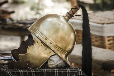 Historical Reenactment: Gaul Warrior's Helmet. Celtic Civilization (Gauls), 4th-3rd Century Bc