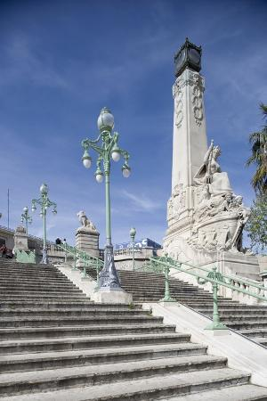 Monumental Stairway Leading to Gare Saint-Charles, Marseille, Provence-Alpes-Cote D'Azur, France