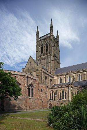 Bell Tower of Worcester Cathedral (12th-13th Century), Worcester, Worcestershire, United Kingdom