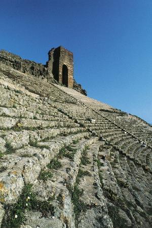 Pergamum Theatre Near Bergama (Pergamon), Turkey. Hellenistic Civilization, Detail, 3rd Century Bc