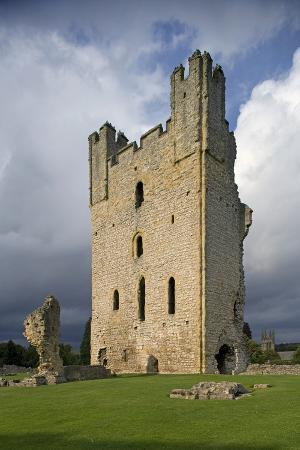 Remains of Eastern Tower, Ruins of Helmsley Castle (Circa 1120), North Yorkshire, United Kingdom