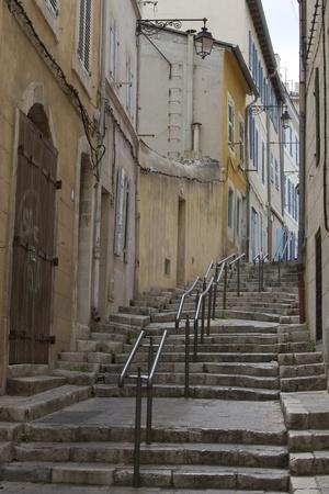 Steps in the Old Panier District (Vieux Panier), Marseille, Provence-Alpes-Cote D'Azur, France