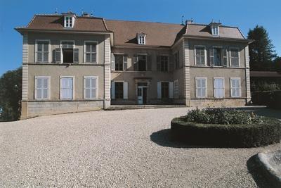 Facade of a Castle, Chateau De Moidiere, Bonnefamille, Rhone-Alpes, France