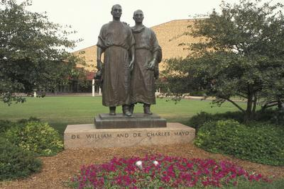 Statue of Drs. William James and Charles Horace Mayo, Mayo Park, Rochester