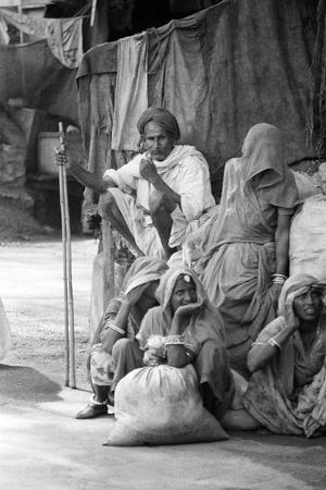 Pilgrims Resting, Badrinath, Joshimath, Garhwal, Uttarakhand, India, 1978