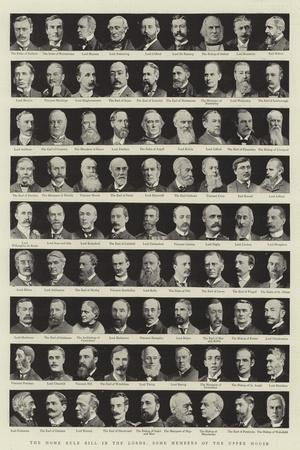 The Home Rule Bill in the Lords, Some Members of the Upper House