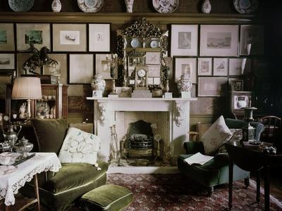 North End of the Drawing Room of 18 Stafford Terrace, Kensington and Chelsea, London