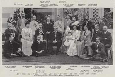 The Viceroy of India, Lord and Lady Curzon and the Vigeregal Staff