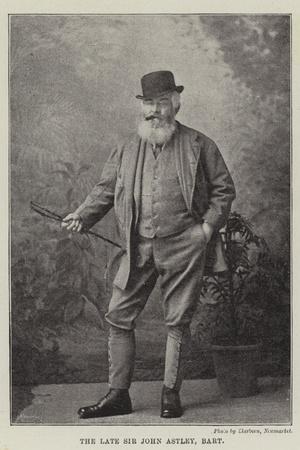The Late Sir John Astley, Baronet